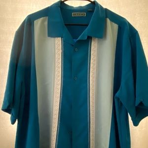 Men's Cubavera Short Sleeve Shirt Size 2XL